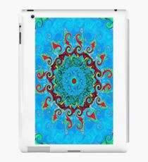 Blue Turquoise Orange and Red Mandala iPad Case/Skin