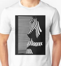 """""""blinded"""" Noir Nude. Photo turned stencil painting. Unisex T-Shirt"""