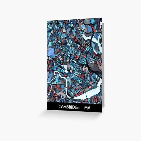 Cambridge, MA (Blue) Greeting Card