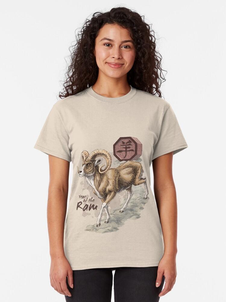 Alternate view of Chinese Zodiac - the Ram Classic T-Shirt