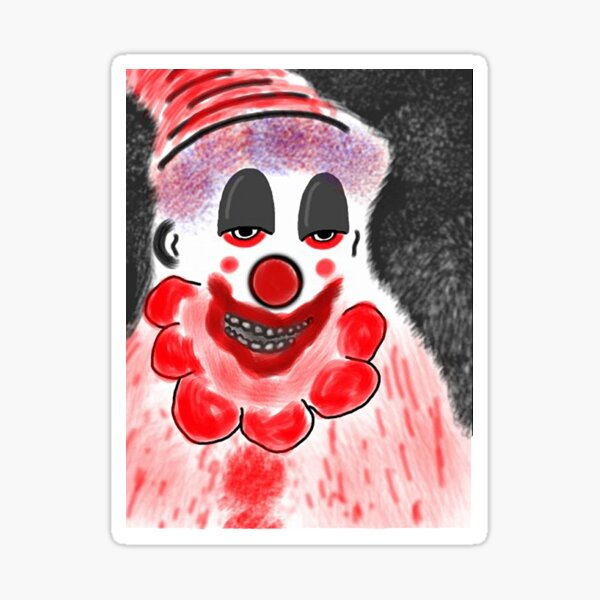 POPO The Angry Clown  Sticker