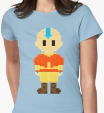 Avatar Last Airbender 8Bit Aang 3nigma Women's Fitted T-Shirt