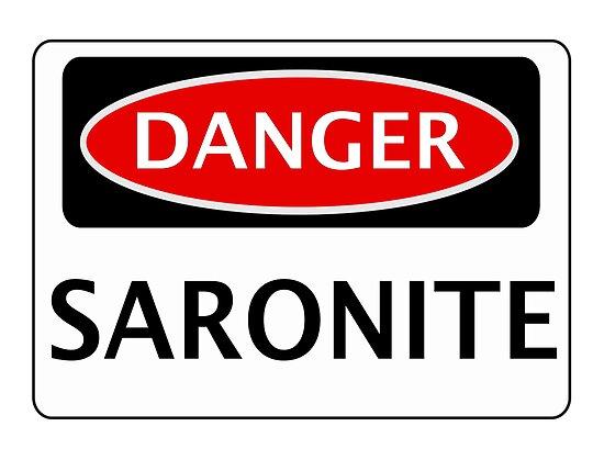 DANGER SARONITE FAKE ELEMENT FUNNY SAFETY SIGN SIGNAGE von DangerSigns