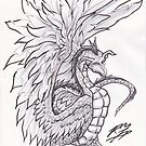 Feather Dragon by Red-wolf-Ink