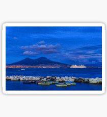 Blue Night in Naples - Mediterranean Impressions Sticker