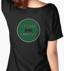 Stoned & Famous Back Logo Women's Relaxed Fit T-Shirt