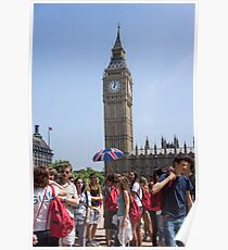 tourists view big ben Poster