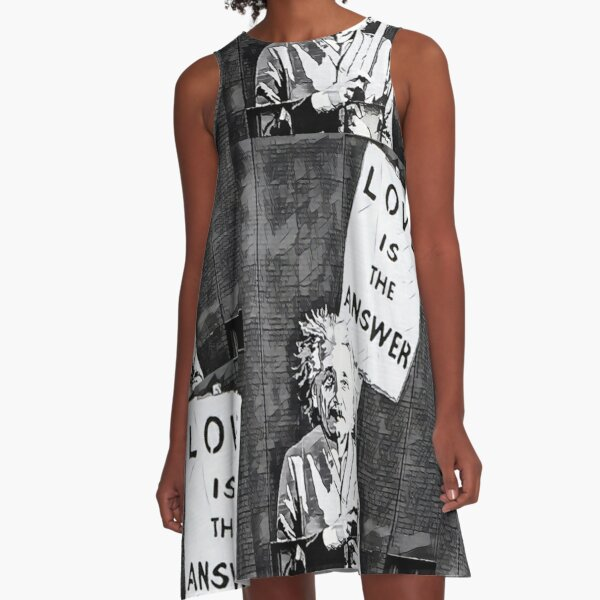 Love is the Answer A-Line Dress