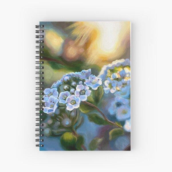Sunlit Flower Original Painting Morning Spireas #1 Spiral Notebook
