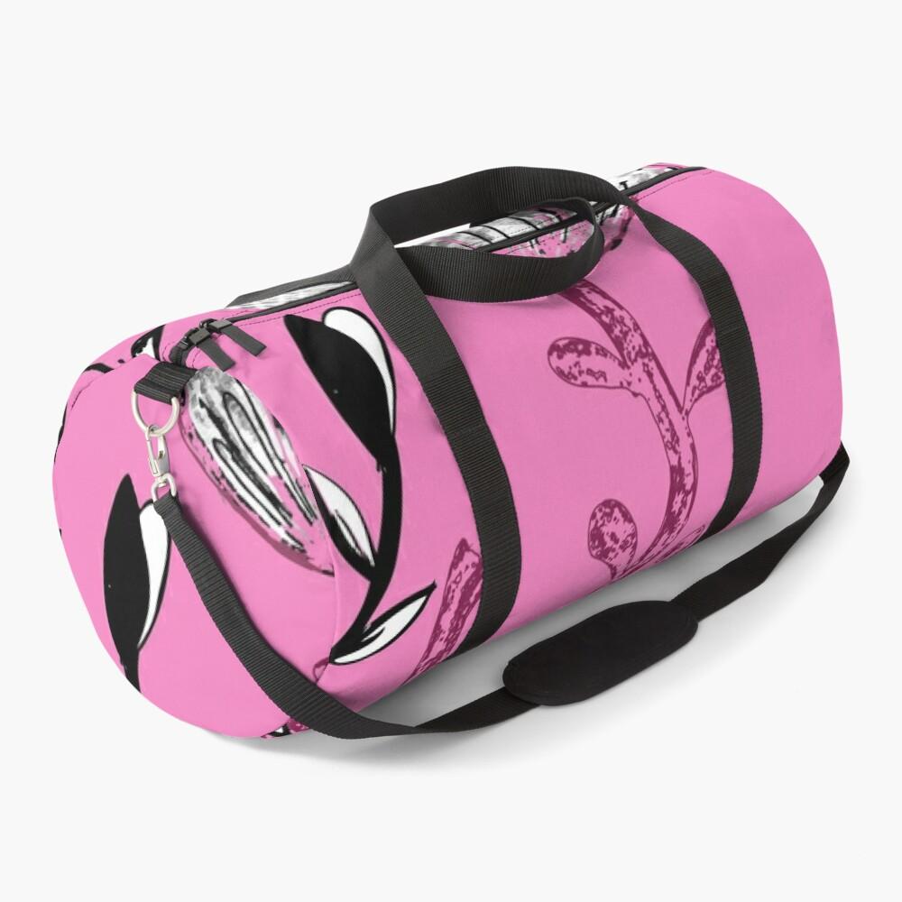Black Pink Ink Duffle Bag