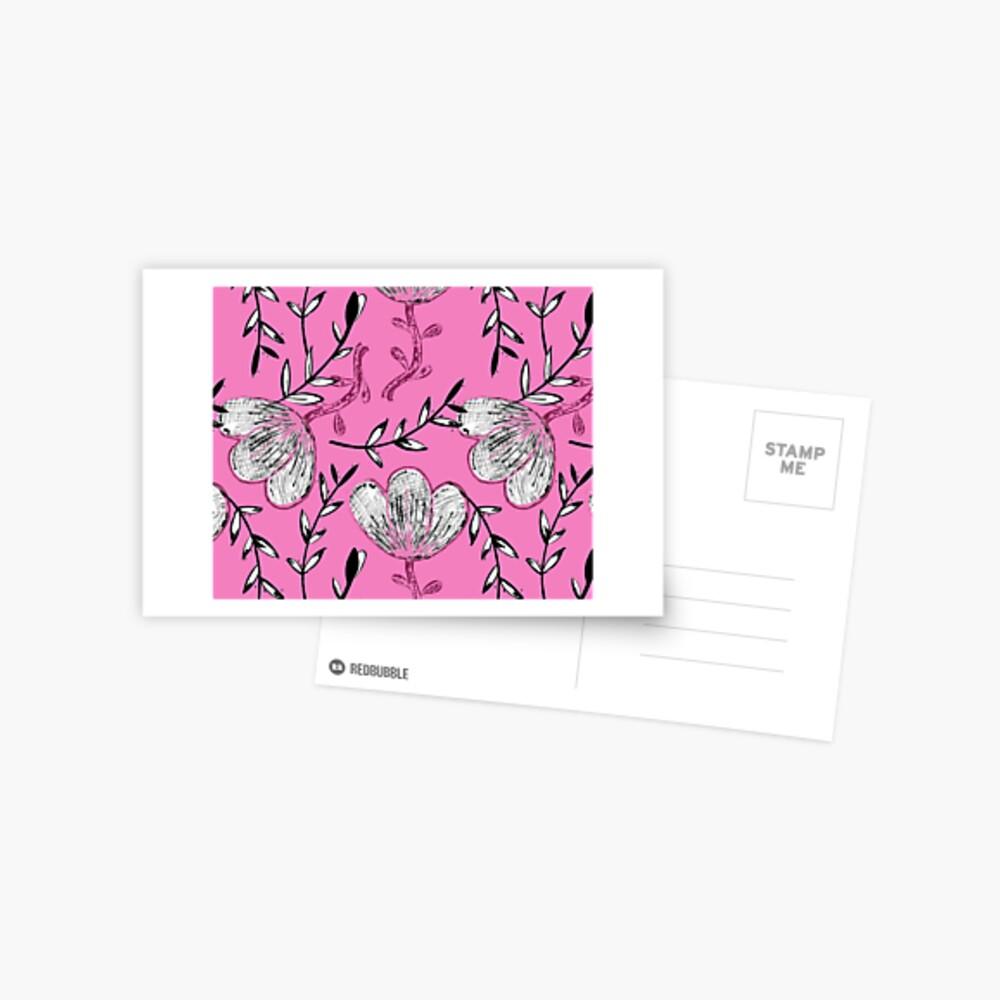 Black Pink Ink Postcard