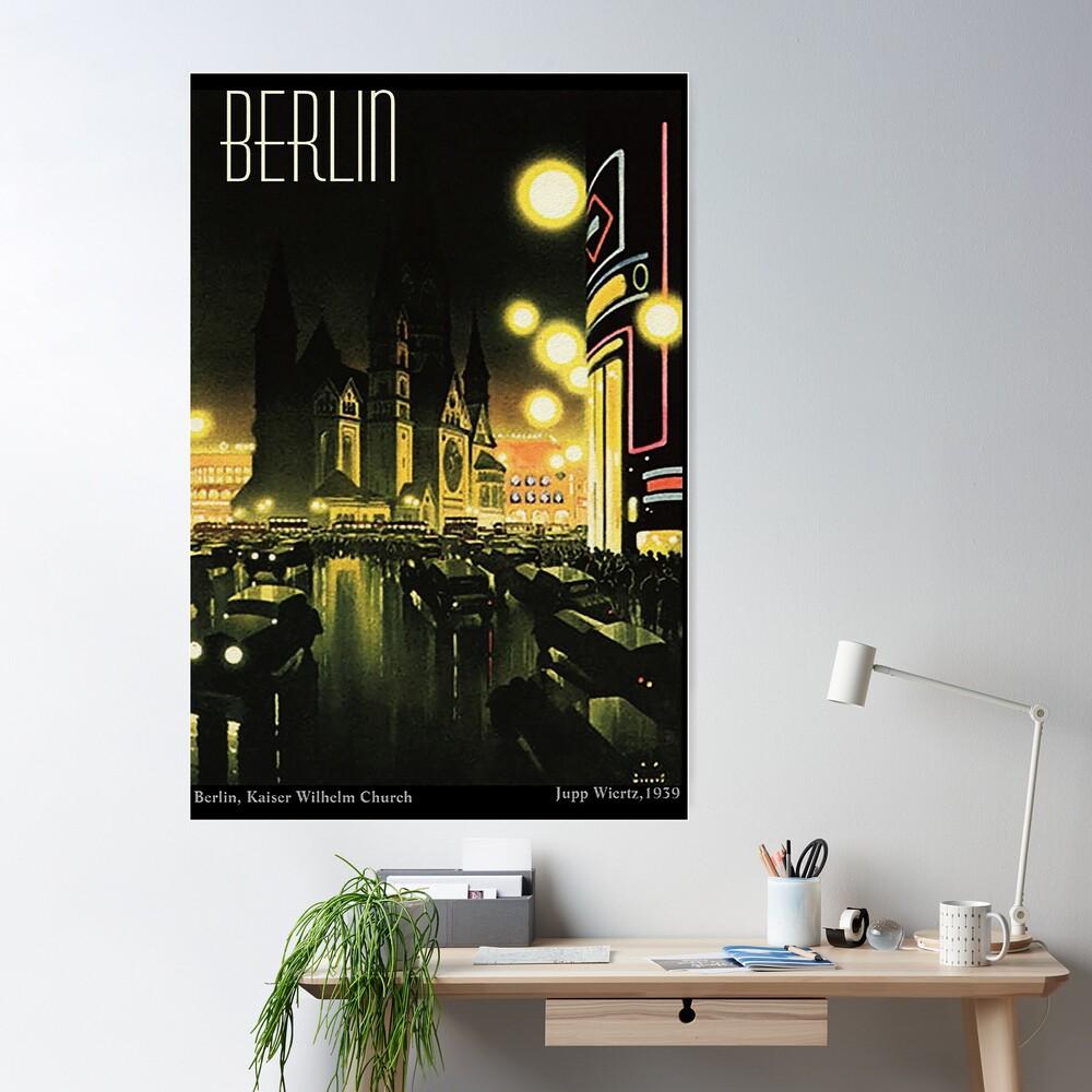 Kaiser Wilhelm Church ...Berlin at night, by Jupp Wiertz Poster
