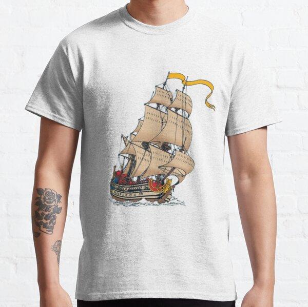 Navire à voile La Licorne en couleur T-shirt classique