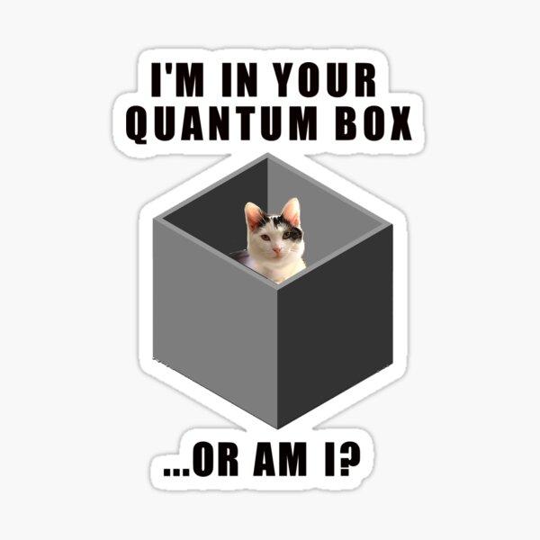 Quantum Katze Sticker