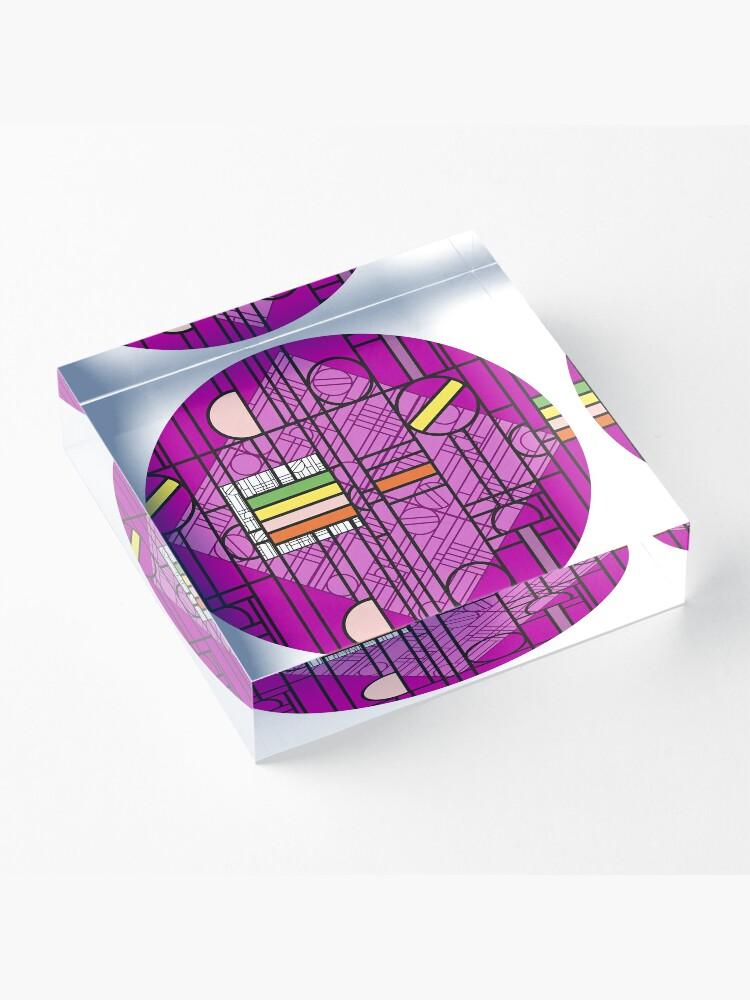 Alternate view of Circular Blockwork Acrylic Block