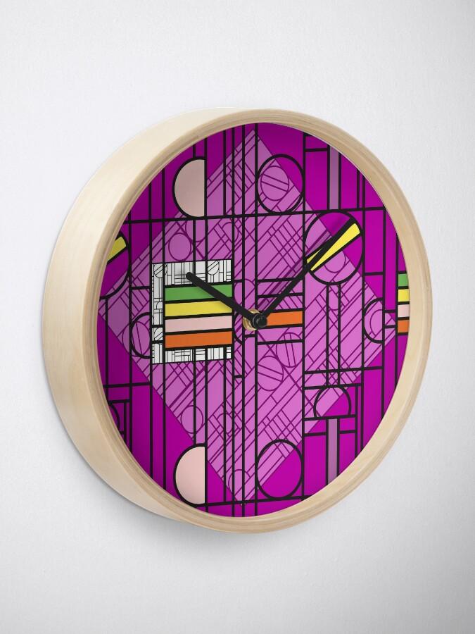 Alternate view of Circular Blockwork Clock