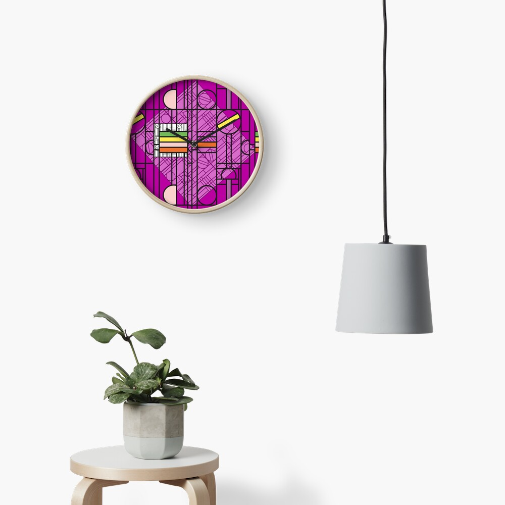 Circular Blockwork Clock