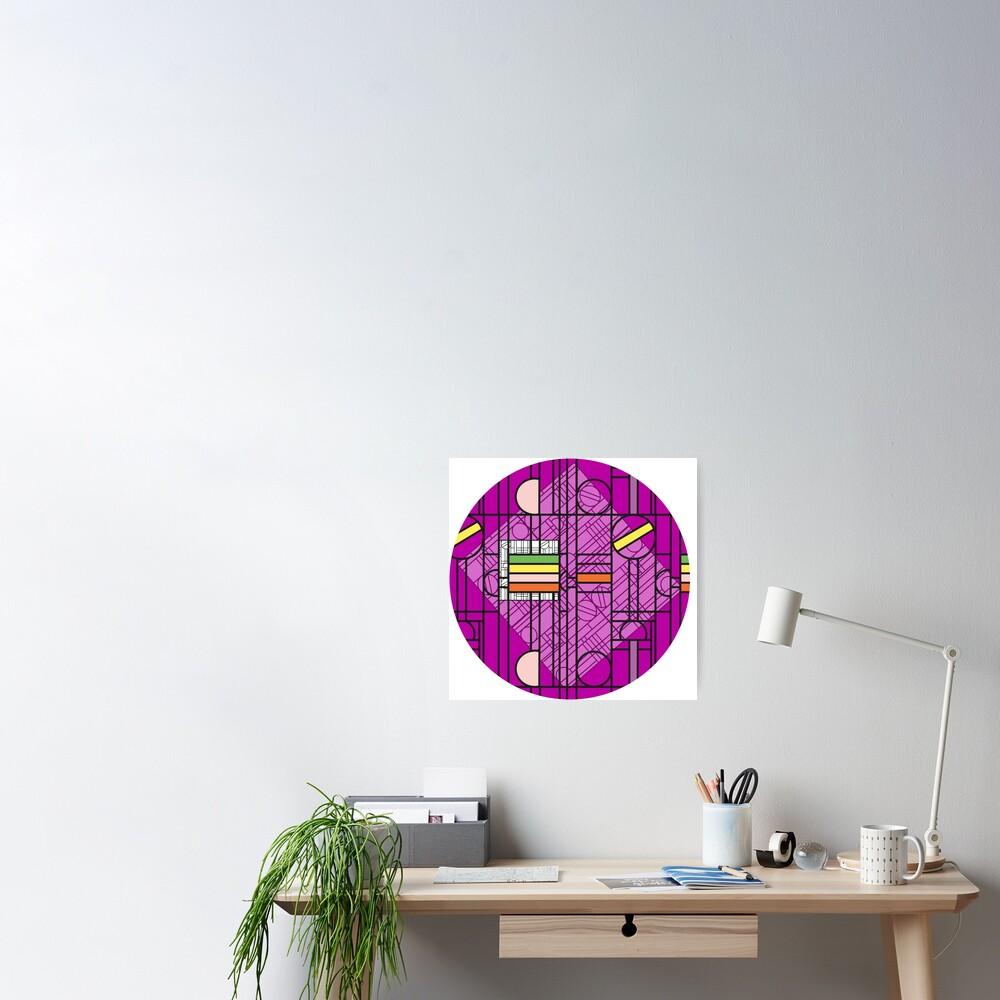 Circular Blockwork Poster