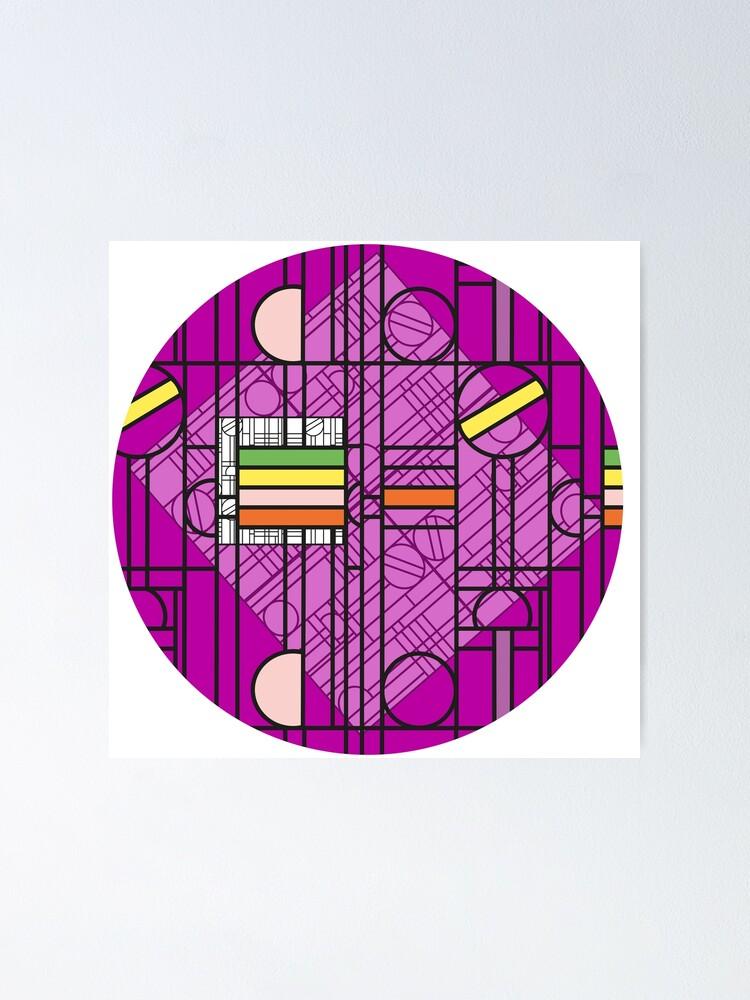 Alternate view of Circular Blockwork Poster