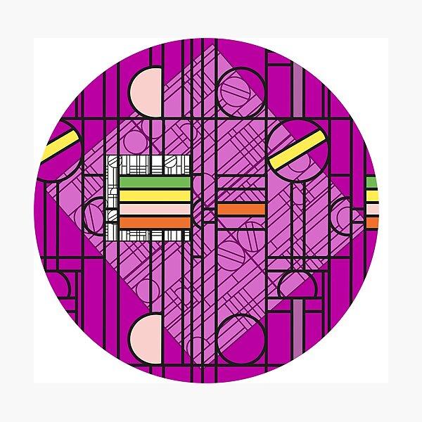 Circular Blockwork Photographic Print