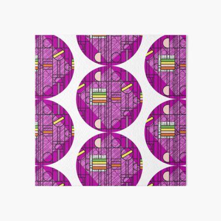 Circular Blockwork Art Board Print
