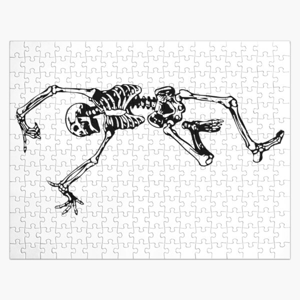 Dancing Skeleton | Day of the Dead | Dia de los Muertos | Skulls and Skeletons | Black and White |  Jigsaw Puzzle