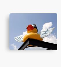 Uber Flying Rubber Duck With Ray Bans Canvas Print