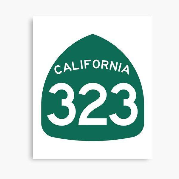 California State Route 323 (Area Code 323) Canvas Print