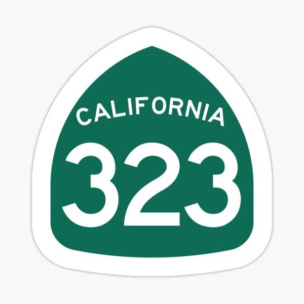 California State Route 323 (Area Code 323) Sticker