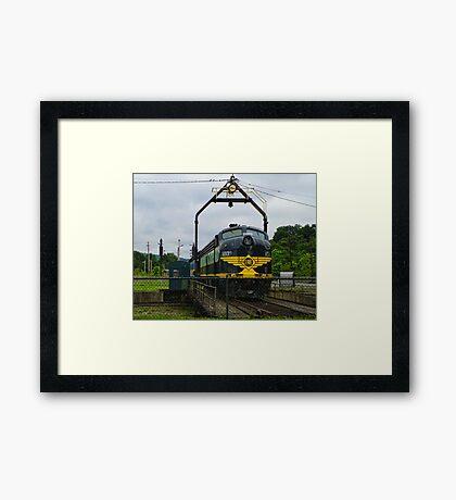 Erie Railroad Turntable Framed Print