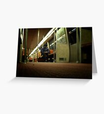 Lonely Metro Ride Greeting Card