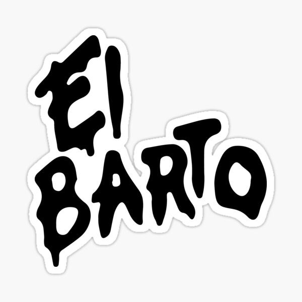 El barto bart tv animada bad serie fox netflix fun simpsons Pegatina