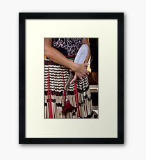 Ceremonial Costume Framed Print