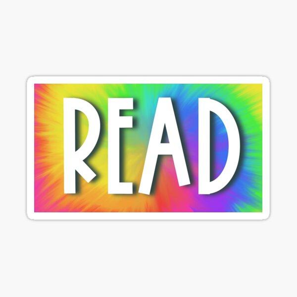 READ (Neon Tie-Dye) Sticker