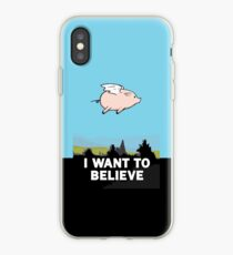 The X-Files: I Want to Believe Poster Flying Pig Spoof iPhone Case