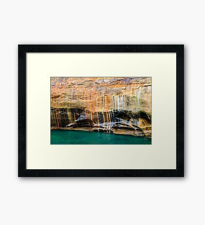 Mineral Seeps at Pictured Rocks National Lakeshore Framed Print
