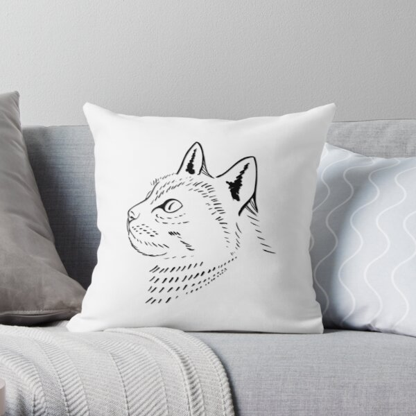 Majestic Cat is Aloof Throw Pillow