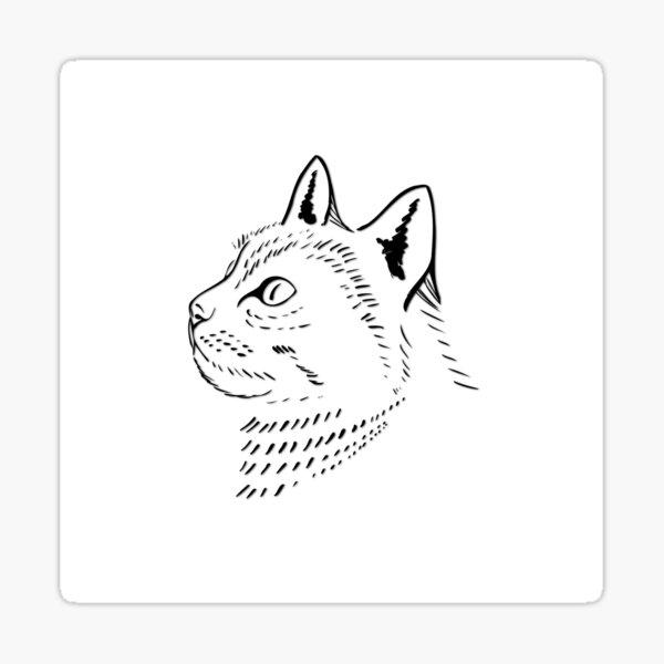 Majestic Cat is Aloof Sticker