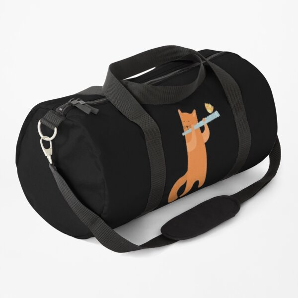 CAT PLAYING FLUTE Duffle Bag