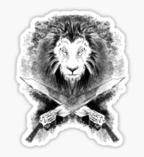 Lion Heart (black) Sticker