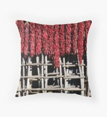 Hanging Ristras Throw Pillow