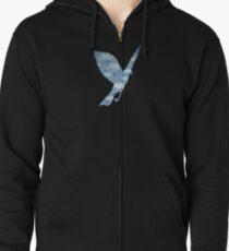 Surrealist Bird Zipped Hoodie