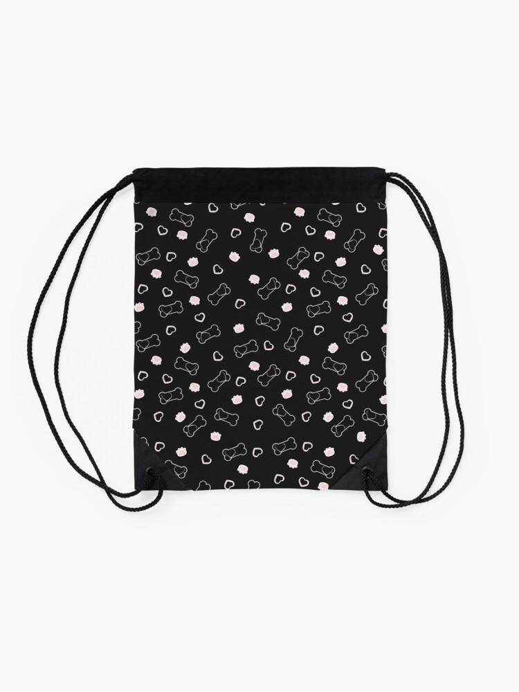 Alternate view of Paw Heart Drawstring Bag