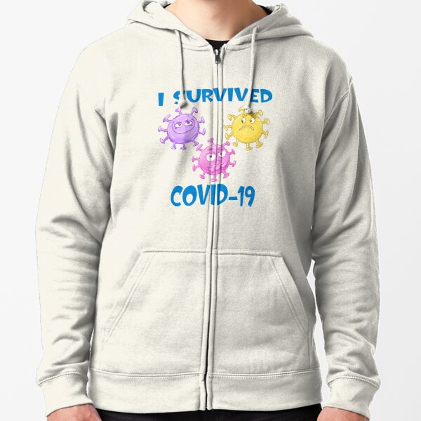 I Survived Covid-19 Zipped Hoodie
