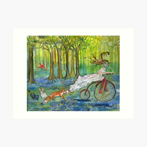 Bicycle Pursuit Art Print