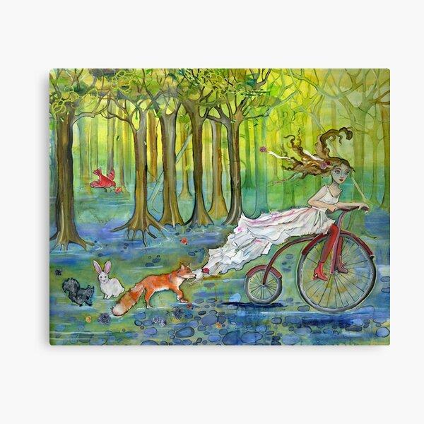 Bicycle Pursuit Canvas Print
