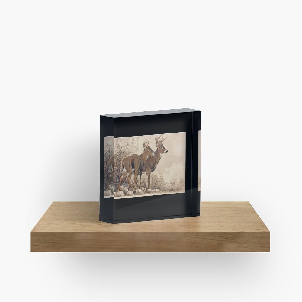 Fall Bucks  Acrylic Block