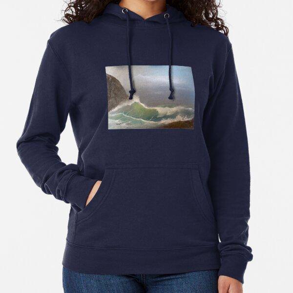 Stormy seas - oil painting design Lightweight Hoodie