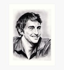 Lee Pace, charming smile Art Print