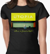 Utopia - T-Shirt - Where Is Jessica Hyde? Women's Fitted T-Shirt